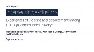 Intersecting exclusions: experiences of violence and displacement among LGBTQI+ communities in Kenya