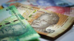 Money in SA rands