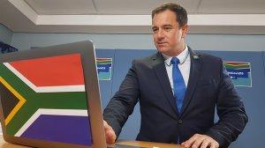 Image of Leader of the Democratic Alliance, John Steenhuisen
