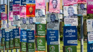 Election campaign posters